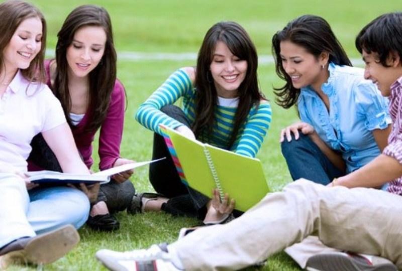 ilustrasi mahasiswa lagi belajar bersama